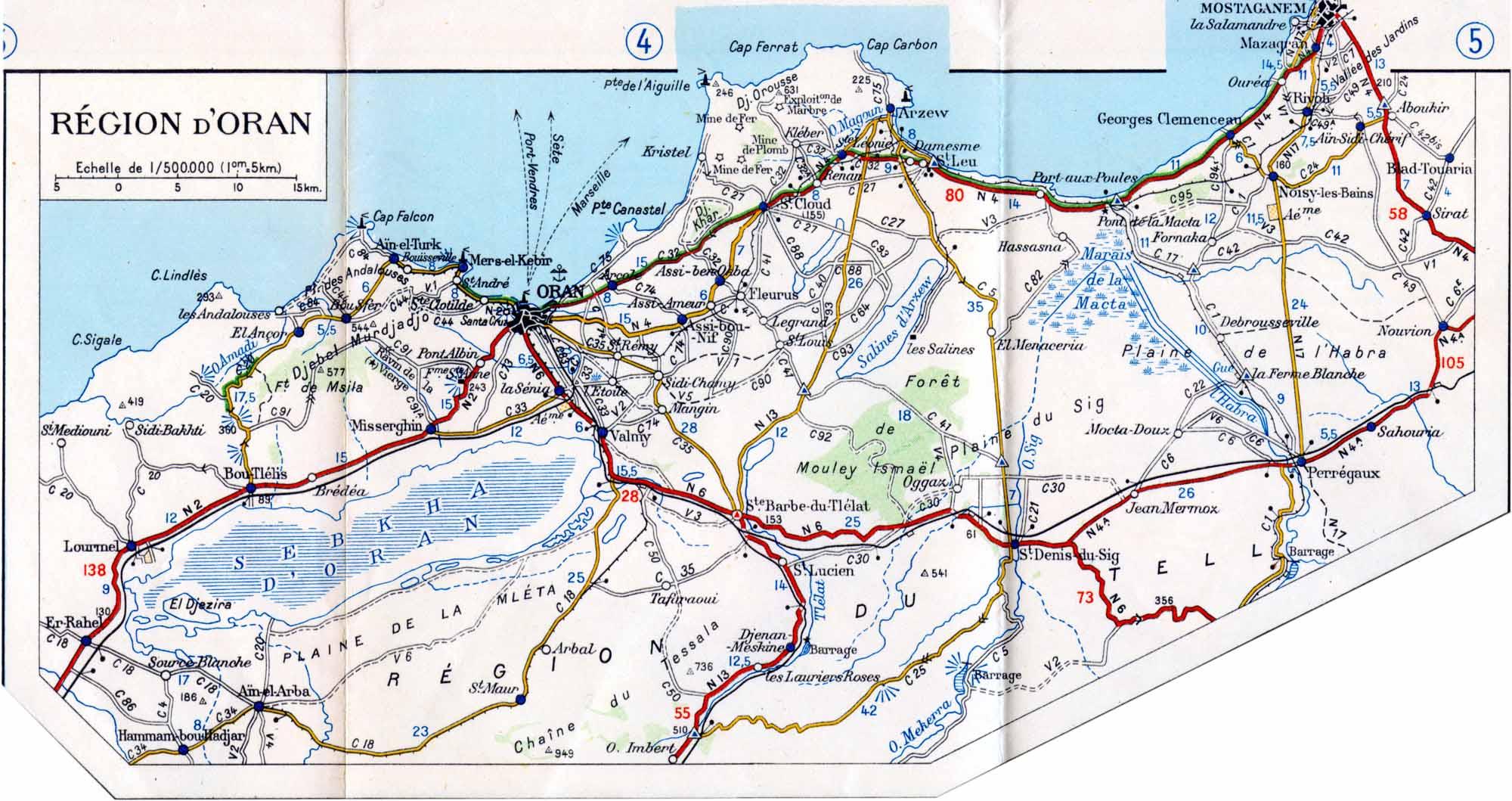 Carte Geographique De Lalgerie.Carte Afrique Du Nord
